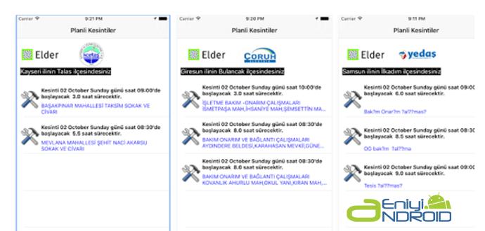 Cep Telefonlarında E-Kesinti Mobil uygulaması