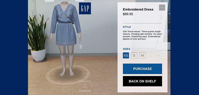 GAP DressingRoom  Sanal Giyinme Uyguamaları