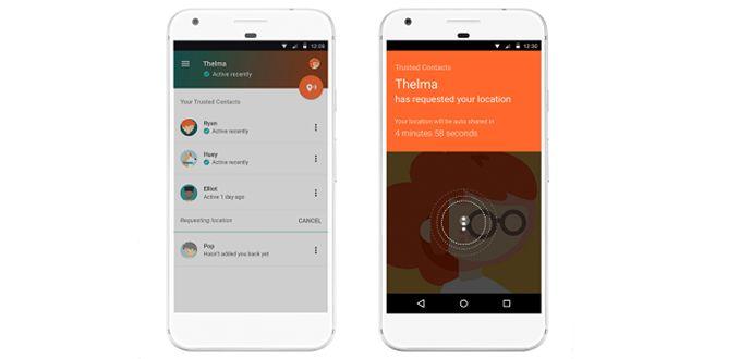Google Güvenilir Kişiler Android Uygulaması