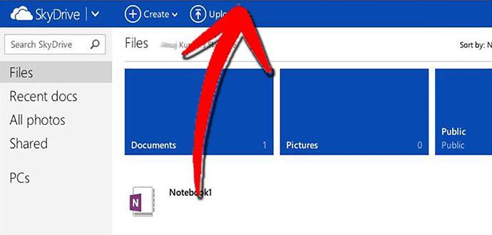 Windows 8 SkyDrive Desktop Uygulaması Ekleme