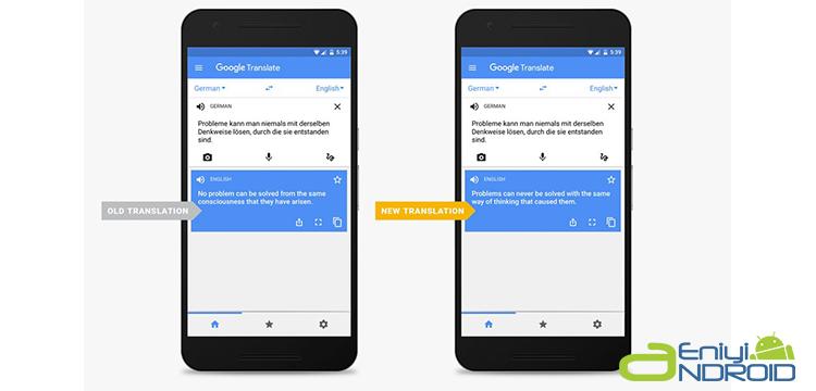 Yeni Google Translate Çevirici