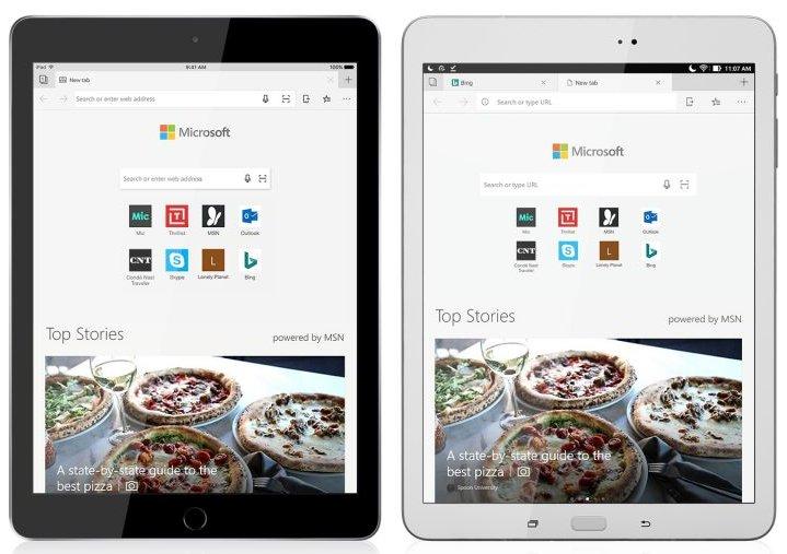 Microsoft Edge web tarayıcısı artık hem iPad hem de Android tabletlerde mevcut