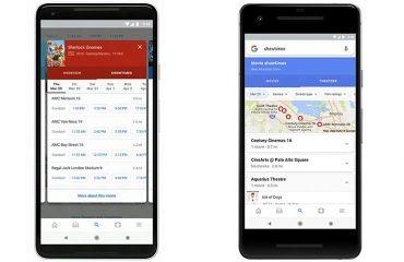 Google Arama uygulamasında Filmler için Değerlendirme Karşılaştırma Seçenekleri sunuyor