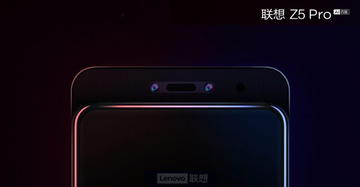 Lenovo Z5 Pro 24 MP + 16 MP ana çift kamera var