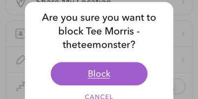 Snapchat'teki kişileri nasıl engelleyebilirim?