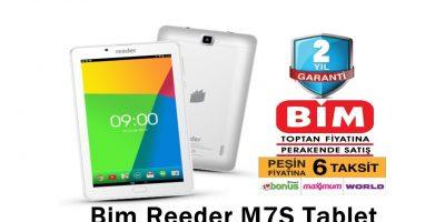 Bim'de Reeder M7S Tablet Fırsatı
