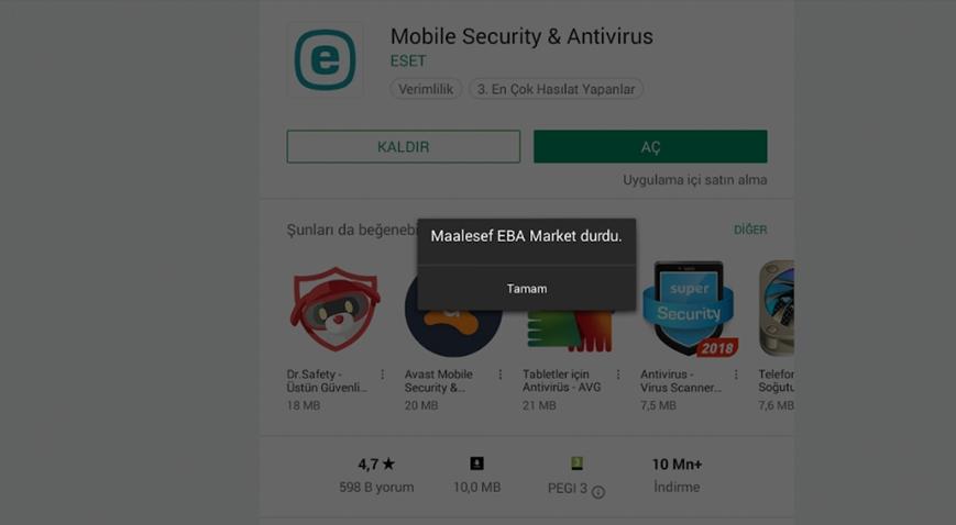 EBA ''ERROR MESSAGE LOG OUT THEN RELOGN'' Hatası