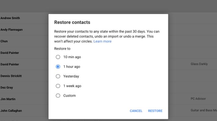 Android'den kaybolan veya silinen kişileri nasıl kurtarırım?