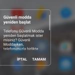 Android Güvenli Mod Açma 2019