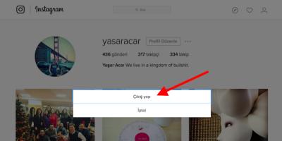 Instagram tüm cihazlardan çıkış yapma 2019