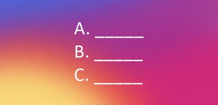 Instagram'da Hikayeye Test Ekleme İşlemi
