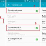 Android Cihazlarda Otomatik Saat Ayarını Kapatma İşlemi