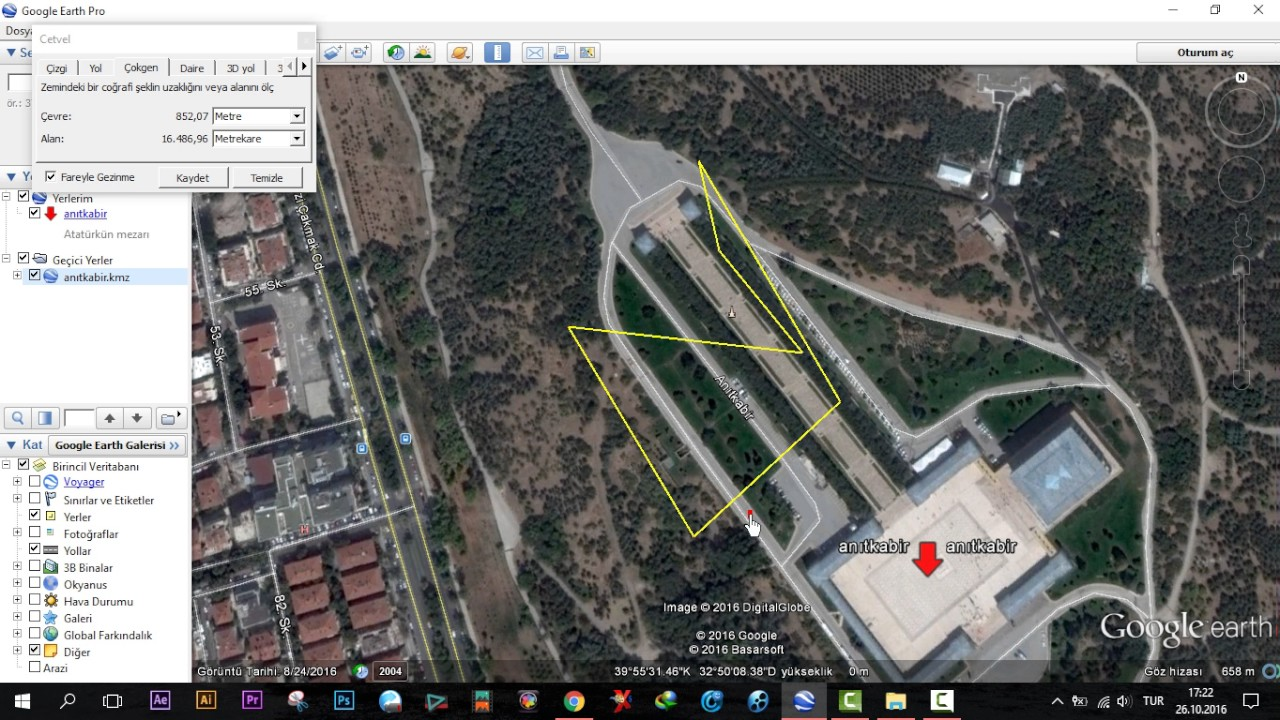 Google Earth mesafe ölçme 2019